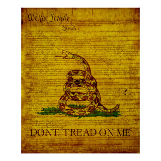 Gadsden Flag Print