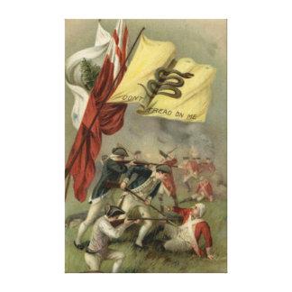 Gadsden Flag Revolutionary War Bunker Hill Canvas Print