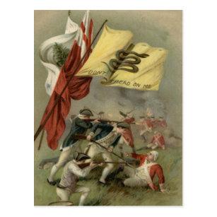 Gadsden Flag Revolutionary War Bunker Hill Postcard