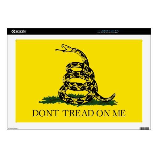 Gadsden Flag Decals For Laptops