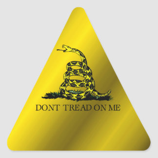Gadsden Flag Triangle Sticker