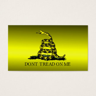 Gadsden Flag Yellow and Black Fade Business Card