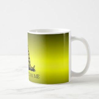 Gadsden Flag Yellow and Black Fade Coffee Mug