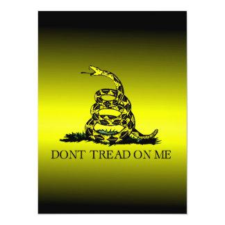 Gadsden Flag Yellow and Black Fade 5.5x7.5 Paper Invitation Card