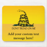 Gadsden Flag, Yellow Background Mouse Pad