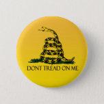Gadsden Flag, Yellow Background Pinback Button