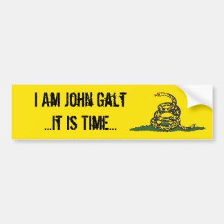 Gadsden John Galt It is Time Bumper Sticker