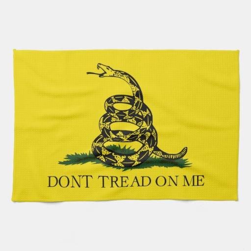 Gadsden no pisa la bandera toallas de cocina