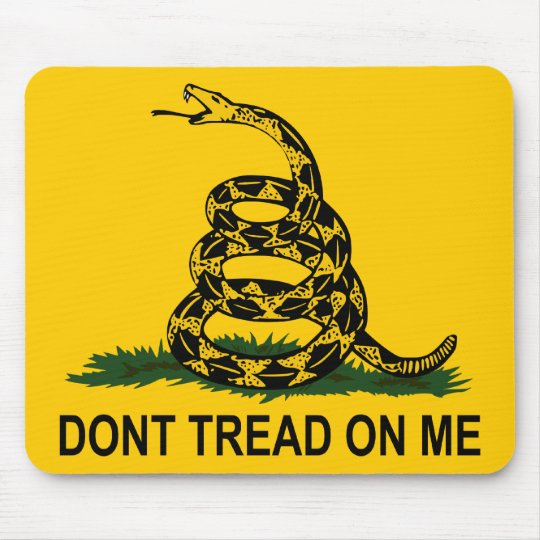 "Gadsden Rattlesnake ""Don't Tread On Me"" Mouse Pad"