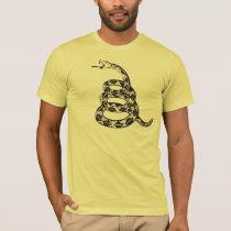 Gadsden Snake - Black T-Shirt