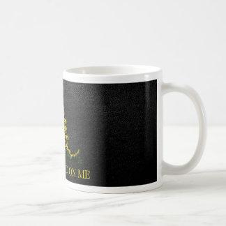 Gadsden Snake On Faux Leather Coffee Mug