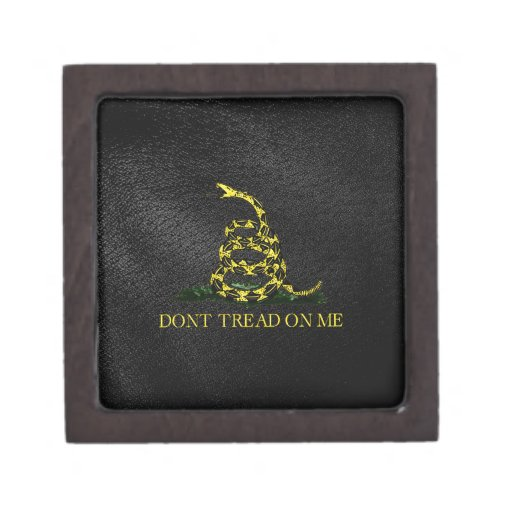 Gadsden Snake On Faux Leather Premium Gift Box