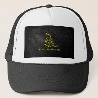 Gadsden Snake On Faux Leather Trucker Hat