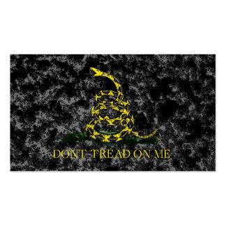 Gadsden Snake on Marbled Background Business Card