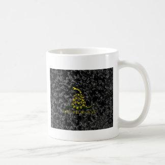 Gadsden Snake on Marbled Background Coffee Mug
