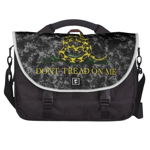 Gadsden Snake on Marbled Background Laptop Messenger Bag