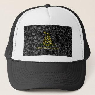 Gadsden Snake on Marbled Background Trucker Hat