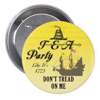 Gadsden - Tea Party Like It's 1773 Button