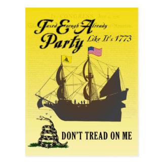 Gadsden - Tea Party Like It's 1773 Postcard