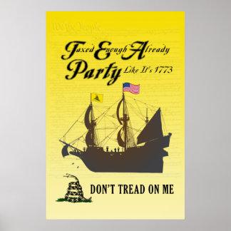 Gadsden - Tea Party Like It's 1773 Poster