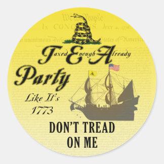 Gadsden - Tea Party Like It's 1773 Stickers