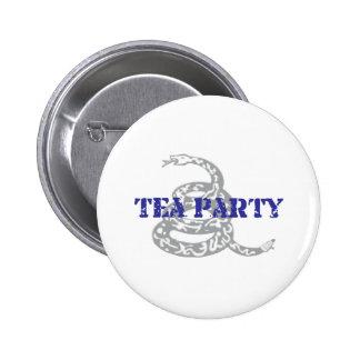 Gadsden Tea Party Pinback Button