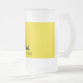 gadsden ug frosted glass beer mug