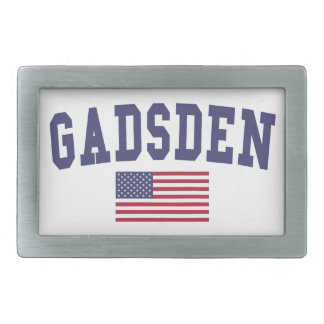 Gadsden US Flag Rectangular Belt Buckle