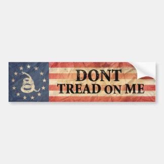 Gadsden y bandera de los E.E.U.U. 1776 Pegatina Para Auto