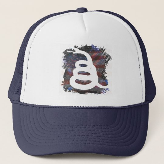 Gadsen Themed Patriotic Trucker Hat