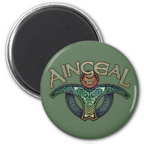 Gaelic Angel Round Magnet