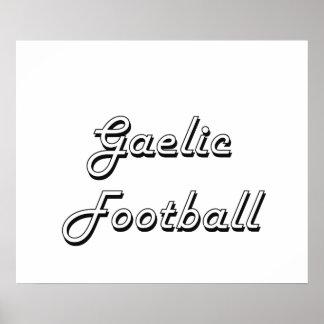 Gaelic Football Classic Retro Design Poster