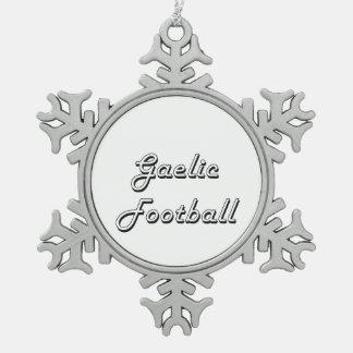 Gaelic Football Classic Retro Design Snowflake Pewter Christmas Ornament