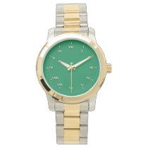 Gaelic Green and Gold Wrist Watch