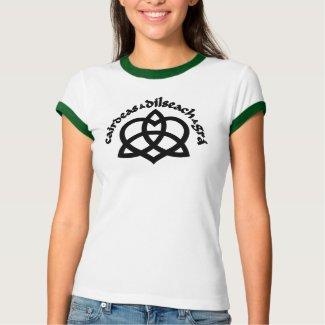 Gaelic Love (6 colors) Ladies Ringer shirt