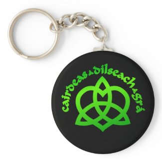 Gaelic Love Collectible Art Key Chain keychain