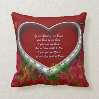 Gaelic Wedding Oath: Blood of my Blood - floral Throw Pillow