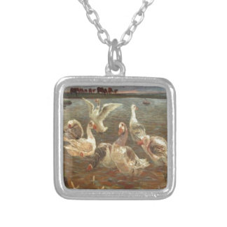 Gæs by Theodor Philipsen Square Pendant Necklace