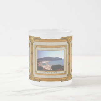 Gaeta Beach Vintage Frame Frosted Glass Coffee Mug