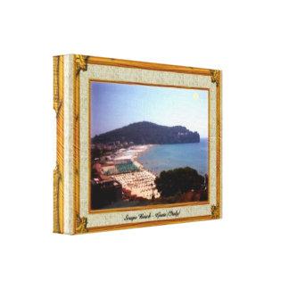 Gaeta Beach Vintage Frame Gallery Wrap Canvas