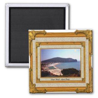 Gaeta Beach Vintage Frame magnet
