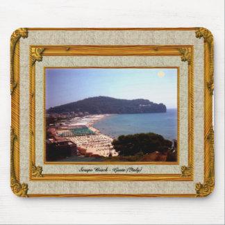 Gaeta Beach Vintage Frame Mouse Pads