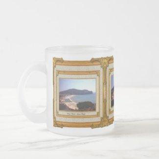 Gaeta Beach Vintage Frame mug