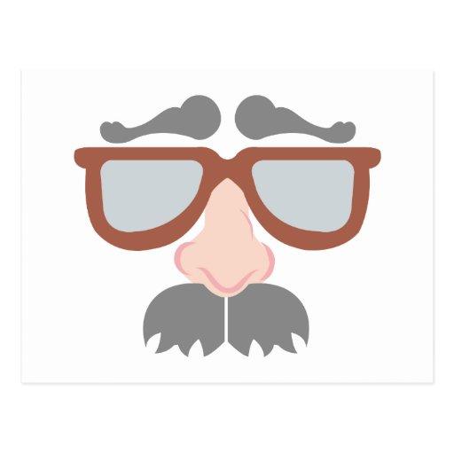 Gafa barba de glasses beard postales