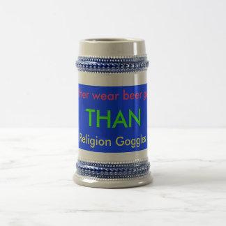 Gafas de la religión jarra de cerveza