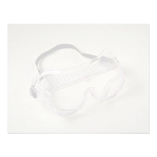 Gafas de seguridad para proteger los ojos plantilla de membrete
