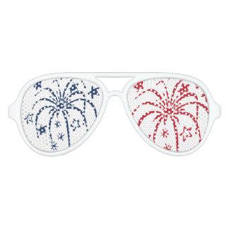 Gafas de sol blancas y azules rojas del fiesta de lentes de fiesta