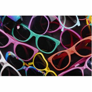 Gafas de sol coloridas hermosas fotoescultura vertical