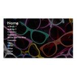 Gafas de sol coloridas hermosas plantillas de tarjeta de negocio