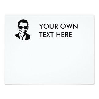 """Gafas de sol de Barack Obama Invitación 4.25"""" X 5.5"""""""